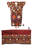 SKIRT BORDER AND BLOUSE WITH FLORAL EMBROIDERY -    - Woven Treasures: Textiles from the Jasleen Dhamija Collection