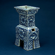 BLUE AND WHITE PORCELAIN CENSER - Asian Art