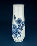 BLUE AND WHITE TALL PORCELAIN VASE -    - Asian Art