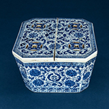 BLUE AND WHITE PORCELAIN CRICKET BOX -    - Asian Art