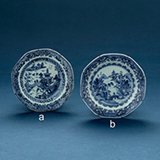 SET OF TWO BLUE AND WHITE PORCELAIN SMALL PLATES -    - Asian Art