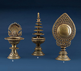 THREE ALTAR PIECES -    - Asian Art