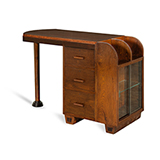 ART DECO WRITING TABLE WITH SIDE STORAGE -    - The Design Sale