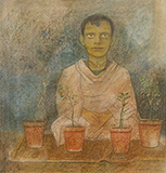 The Plant-Seller - Ganesh  Pyne - From Classical to Contemporary