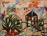 Untitled (Landscapes with horses and trees) - Lancelot  Ribeiro - From Classical to Contemporary