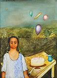 Untitled (Birthday Party) - Anjolie Ela Menon - Evening Sale | Mumbai, Live