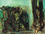 Untitled (Dancers & Musicians) - M F Husain - Evening Sale | Mumbai, Live