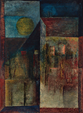 Untitled (Landscape with Sun) - Sadanand  Bakre - Evening Sale | New Delhi, Live