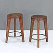 STOOL WITH CIRCULAR BASE - The Design Sale