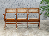 THREE SEATER CINEMA BENCH -    - The Design Sale