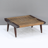 GRASS-SEATED STOOL, GEORGE NAKASHIMA -    - The Design Sale