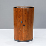 ART DECO CYLINDRICAL CORNER CABINET -    - The Design Sale