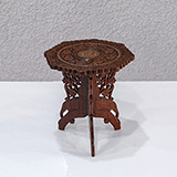 CARVED FOLDING PEG TABLE -    - The Design Sale