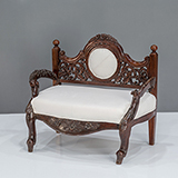 CARVED LOVESEAT -    - The Design Sale