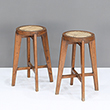 STOOL WITH CANE SEAT - The Design Sale