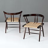 GRASS-SEATED CHAIR, GEORGE NAKASHIMA -    - The Design Sale