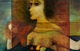 Two Faces of Ayesha - Anjolie Ela Menon - Summer Online Auction