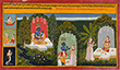FOLIO FROM GITA GOVINDA: KRISHNA AWAITS RADHA - Classical Indian Art
