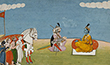KRISHNA WITH PANDAVAS - Classical Indian Art