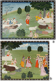 FOLIOS FROM BHAGVATA PURANA -    - Classical Indian Art