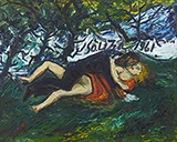 Lovers in the Park - F N Souza - Modern Indian Art