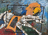 Untitled (Horse) - M F Husain - Modern Indian Art