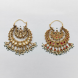 PAIR OF GEMSET `CHANDBALI` EARRINGS -    - Fine Jewels: From Tradition to Innovation