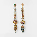 PAIR OF GEMSET `JHUMKI` EARRINGS -    - Fine Jewels: From Tradition to Innovation