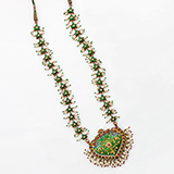 ENAMELLED JADAU NECKLACE -    - Fine Jewels: Ode to Nature