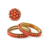 SET OF CORAL RING AND BANGLES -    - Fine Jewels: Ode to Nature