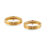PAIR OF GOLD BANGLES -    - Fine Jewels: Ode to Nature