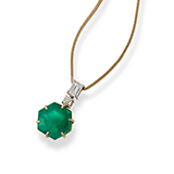 EMERALD AND DIAMOND PENDANT -    - Fine Jewels: Ode to Nature