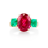 EMERALD AND RUBELLITE RING -    - Fine Jewels: Ode to Nature