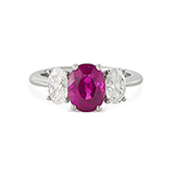 BURMESE RUBY AND DIAMOND RING -    - Fine Jewels: Ode to Nature
