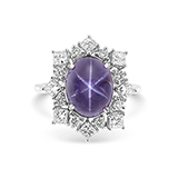 STAR PURPLE SAPPHIRE AND DIAMOND RING -    - Fine Jewels: Ode to Nature