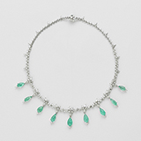 PARAIBA TOURMALINE AND DIAMOND NECKLACE -    - Fine Jewels: Ode to Nature