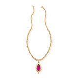 RUBELLITE AND COLOURED DIAMOND NECKLACE -    - Fine Jewels: Ode to Nature