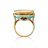 DIAMOND AND ENAMEL RING -    - Fine Jewels: Ode to Nature
