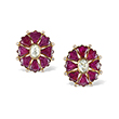 PAIR OF RUBY AND DIAMOND EARRINGS - Fine Jewels: Ode to Nature