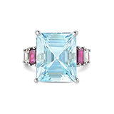 AQUAMARINE AND RUBY RING -    - Fine Jewels: Ode to Nature