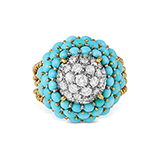 TURQUOISE AND DIAMOND RING -    - Fine Jewels: Ode to Nature