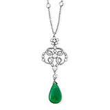 DIAMOND AND EMERALD NECKLACE -    - Fine Jewels: Ode to Nature