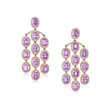 PAIR OF PINK SAPPHIRE AND DIAMOND EARRINGS -    - Fine Jewels: Ode to Nature