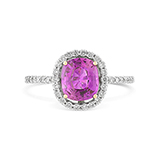 PINK SAPPHIRE AND DIAMOND RING -    - Fine Jewels: Ode to Nature