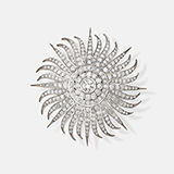 DIAMOND 'SUNBURST' BROOCH -    - Fine Jewels: Ode to Nature