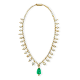 PEARL AND EMERALD NECKLACE -    - Fine Jewels: Ode to Nature