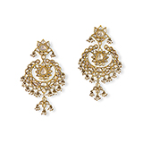 PAIR OF GEMSET REVERSIBLE CHANDBALI EARRINGS -    - Fine Jewels: Ode to Nature