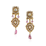 PAIR OF DIAMOND AND SPINEL EARRINGS -    - Fine Jewels: Ode to Nature