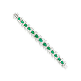EMERALD AND DIAMOND BRACELET -    - Fine Jewels: Ode to Nature