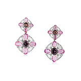 PAIR OF PINK SAPPHIRE, SPINEL AND DIAMOND EARRINGS -    - Fine Jewels: Ode to Nature